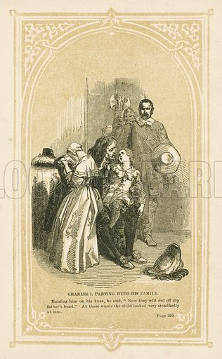 Charles I parting with his family. Illustration for Scenes and Stories from European History (Thomas Nelson, 1848).