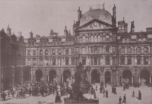 The Exchange, Liverpool. Illustration for booklet of photographs on Liverpool (Friths, c 1895).