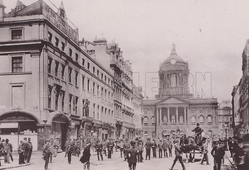 South Castle Street, Liverpool. Illustration for booklet of photographs on Liverpool (Friths, c 1895).