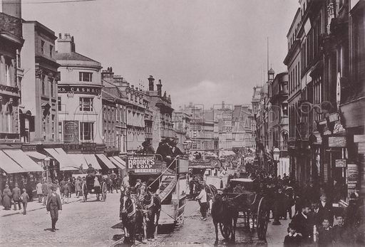 Lord Street, Liverpool. Illustration for booklet of photographs on Liverpool (Friths, c 1895).