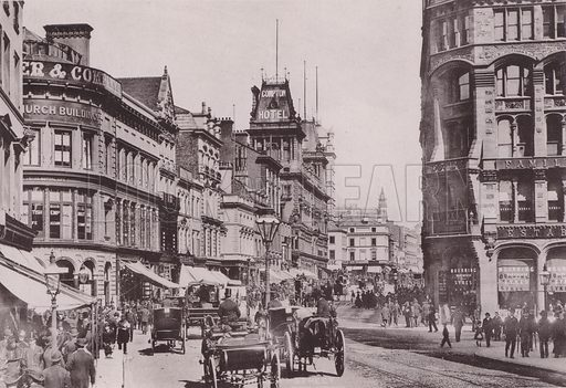 Church Street, Liverpool. Illustration for booklet of photographs on Liverpool (Friths, c 1895).