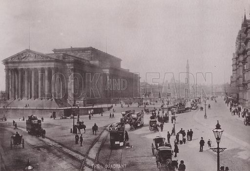 The Quadrant, Liverpool. Illustration for booklet of photographs on Liverpool (Friths, c 1895).