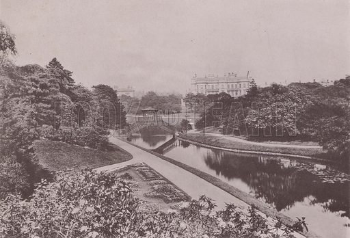 Prince's Park, Liverpool. Illustration for booklet of photographs on Liverpool (Friths, c 1895).