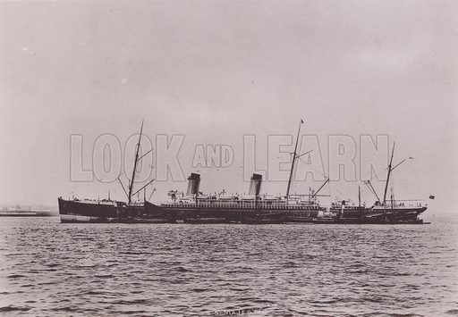 SS Majestic, Liverpool. Illustration for booklet of photographs on Liverpool (Friths, c 1895).
