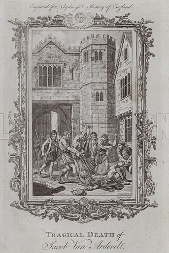 Tragical Death of Jacob Van Ardevelt. Illustration for A New and Complete History of England by Temple Sydney (J Cooke, 1774).