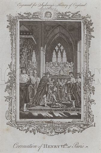 Coronation of Henry VIth at Paris. Illustration for A New and Complete History of England by Temple Sydney (J Cooke, 1774).