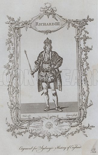 Richard III. Illustration for A New and Complete History of England by Temple Sydney (J Cooke, 1774).