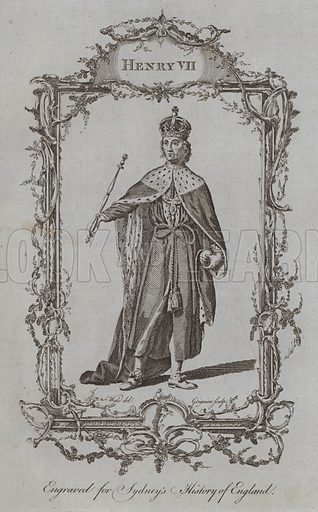 Henry VII. Illustration for A New and Complete History of England by Temple Sydney (J Cooke, 1774).