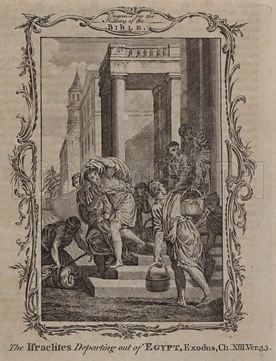 The Israelites Departing out of Egypt. Illustration for A New and Complete History of the Holy Bible by John Fleetwood (J Cooke, c 1770).