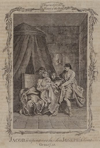 Jacob weeping over his Son Joseph's Coat. Illustration for A New and Complete History of the Holy Bible by John Fleetwood (J Cooke, c 1770).