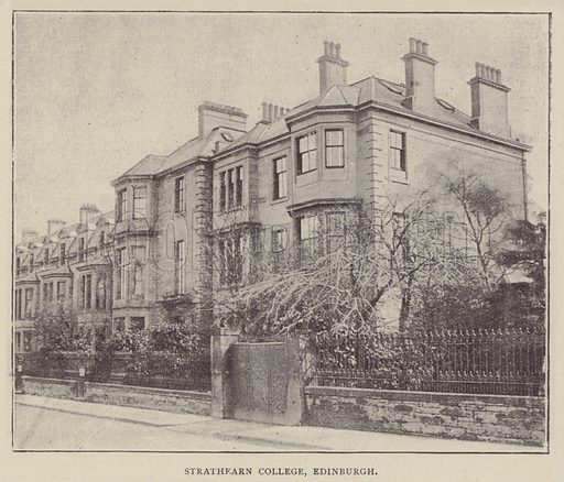 Strathearn College, Edinburgh. Illustration for Illustrations, a Pictorial Review of Knowledge (W Kent, 1889).