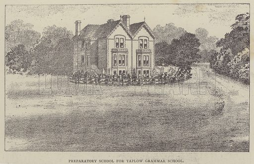 Preparatory School for Taplow Grammar School. Illustration for Illustrations, a Pictorial Review of Knowledge (W Kent, 1889).