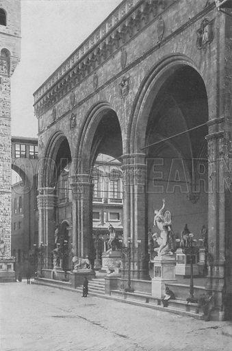 Firenze, Loggia dell'Orgagna. Illustration for Ricordo Di Firenze, c 1895.