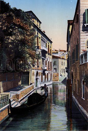 Venezia, Palazzo Van Axel. Illustration for Ricordo di Venezia, c 1900. Exceptionally well coloured early photographs.
