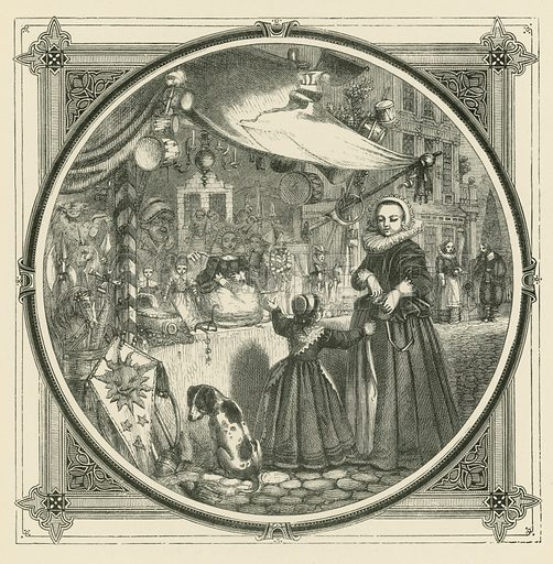 Well set-off is half sold. Illustration for Moral Emblems with Aphorisms, Adages, and Proverbs of All Ages and Nations from Jacob Cats and Robert Farlie with illustrations freely rendered from designs found in the works by John Leighton, FSA, translated and edited with additions by Richard Pigot (Longman, 1860).