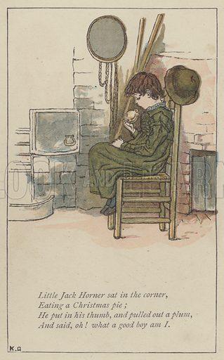 Little Jack Horner sat in the corner. Illustration for Mother Goose or the Old Nursery Rhymes (Frederick Warne, c 1895).