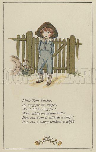 Little Tom Tucker. Illustration for Mother Goose or the Old Nursery Rhymes (Frederick Warne, c 1895).