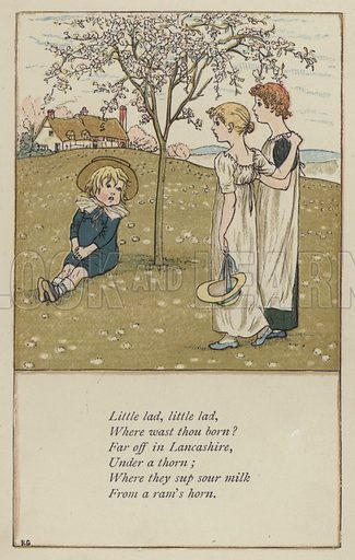 Little lad, little lad. Illustration for Mother Goose or the Old Nursery Rhymes (Frederick Warne, c 1895).