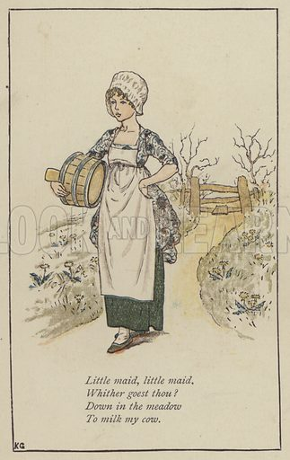 Little maid, little maid. Illustration for Mother Goose or the Old Nursery Rhymes (Frederick Warne, c 1895).