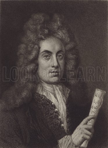 Henry Purcell. Illustration for Cyclopedia of Music and Musicians edited by John Denison Champlin (Charles Scribner, 1888).