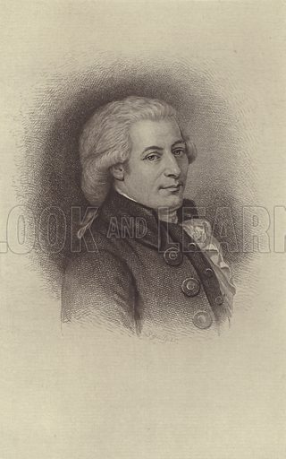 Wolfgang Amadeus Mozart. Illustration for Cyclopedia of Music and Musicians edited by John Denison Champlin (Charles Scribner, 1888).