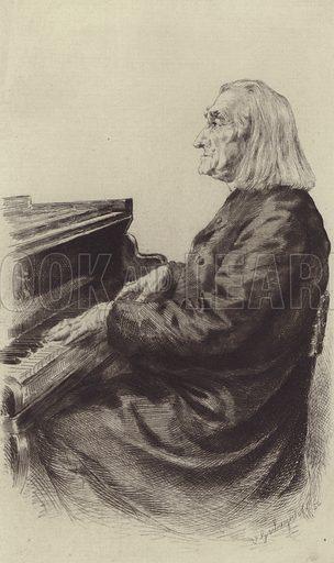 Franz Liszt. Illustration for Cyclopedia of Music and Musicians edited by John Denison Champlin (Charles Scribner, 1888).