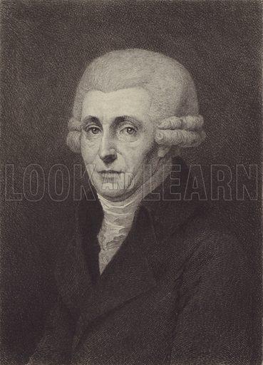 Josef Haydn. Illustration for Cyclopedia of Music and Musicians edited by John Denison Champlin (Charles Scribner, 1888).