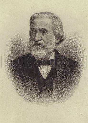 Giuseppe Verdi. Illustration for Cyclopedia of Music and Musicians edited by John Denison Champlin (Charles Scribner, 1888).
