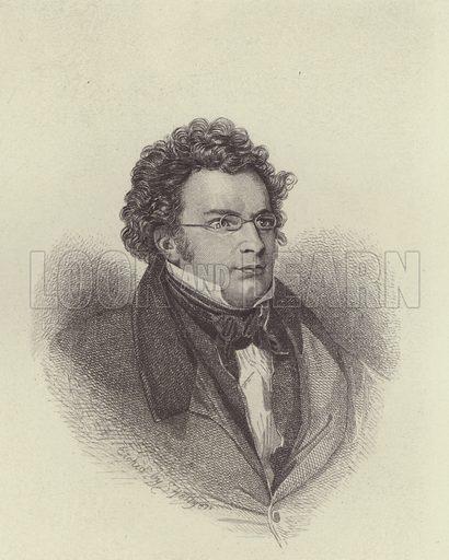 Franz Schubert. Illustration for Cyclopedia of Music and Musicians edited by John Denison Champlin (Charles Scribner, 1888).