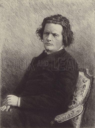 Anton Gregor Rubinstein. Illustration for Cyclopedia of Music and Musicians edited by John Denison Champlin (Charles Scribner, 1888).