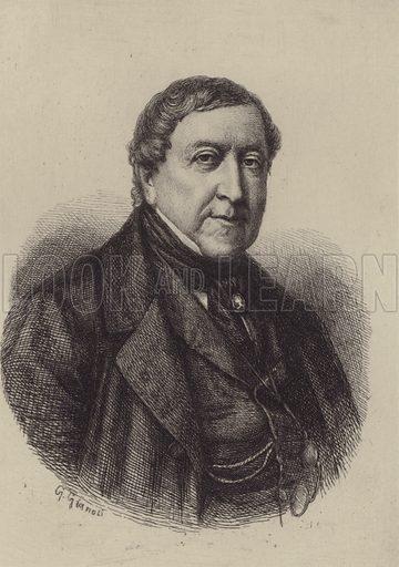 Gioacchino Antonio Rossini. Illustration for Cyclopedia of Music and Musicians edited by John Denison Champlin (Charles Scribner, 1888).