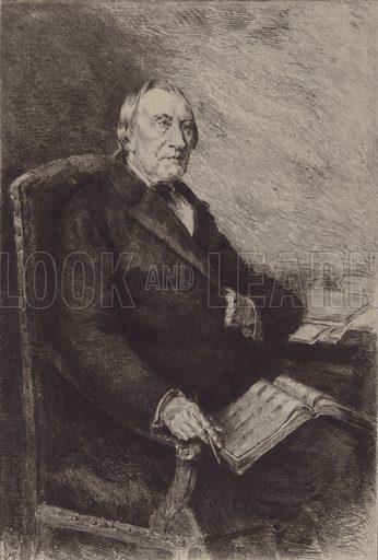 Robert Franz. Illustration for Cyclopedia of Music and Musicians edited by John Denison Champlin (Charles Scribner, 1888).