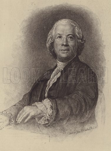 Christoph Willibald Gluck. Illustration for Cyclopedia of Music and Musicians edited by John Denison Champlin (Charles Scribner, 1888).