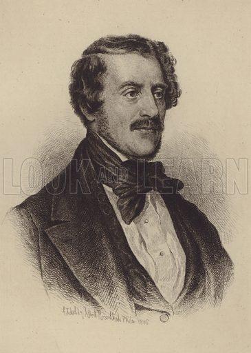 Gaetano Donizetti. Illustration for Cyclopedia of Music and Musicians edited by John Denison Champlin (Charles Scribner, 1888).