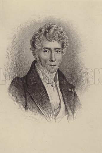 Luigi Cherubini. Illustration for Cyclopedia of Music and Musicians edited by John Denison Champlin (Charles Scribner, 1888).