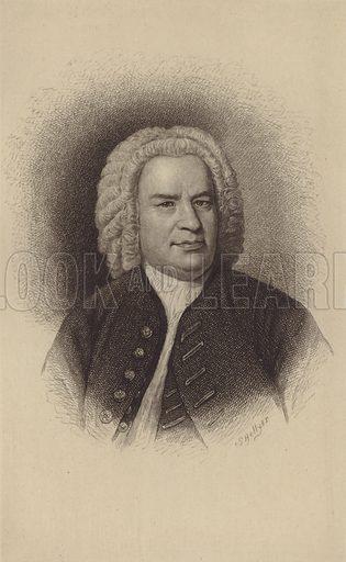 Johann Sebastian Bach. Illustration for Cyclopedia of Music and Musicians edited by John Denison Champlin (Charles Scribner, 1888).
