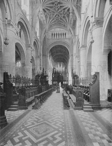 The Cathedral, West End. Illustration for Sights and Scenes in Oxford City and University described by Thomas Whittaker (Cassell, c 1895).