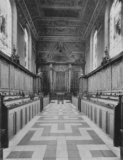 Trinity College Chapel. Illustration for Sights and Scenes in Oxford City and University described by Thomas Whittaker (Cassell, c 1895).