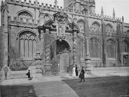 St Mary's Church Porch. Illustration for Sights and Scenes in Oxford City and University described by Thomas Whittaker (Cassell, c 1895).
