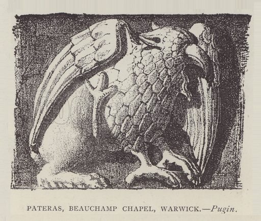 Pateras, Beauchamp Chapel, Warwick. Illustration for Oxford Men and their Colleges by Joseph Foster (James Parker, 1893).