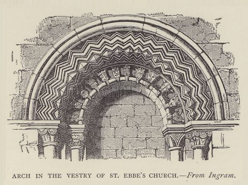 Arch in the Vestry of St Ebbe's Church. Illustration for Oxford Men and their Colleges by Joseph Foster (James Parker, 1893).