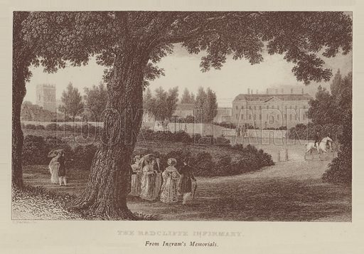 The Radcliffe Infirmary. Illustration for Oxford Men and their Colleges by Joseph Foster (James Parker, 1893).