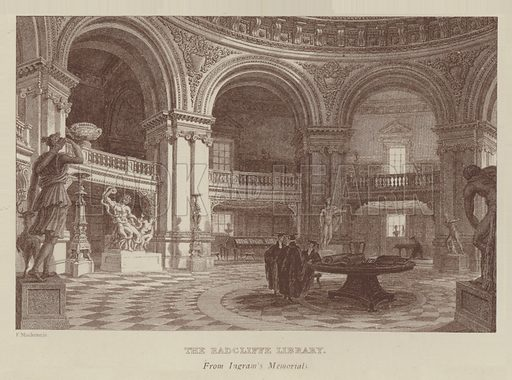 The Radcliffe Library. Illustration for Oxford Men and their Colleges by Joseph Foster (James Parker, 1893).
