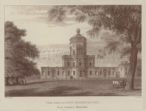 The Radcliffe Observatory. Illustration for Oxford Men and their Colleges by Joseph Foster (James Parker, 1893).