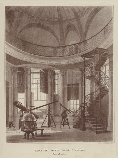 Radcliffe Observatory. Illustration for Oxford Men and their Colleges by Joseph Foster (James Parker, 1893).