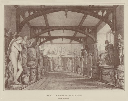 The Statue Gallery. Illustration for Oxford Men and their Colleges by Joseph Foster (James Parker, 1893).