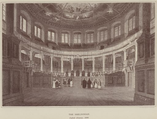 The Sheldonian. Illustration for Oxford Men and their Colleges by Joseph Foster (James Parker, 1893).