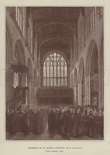 Interior of St Mary's Church. Illustration for Oxford Men and their Colleges by Joseph Foster (James Parker, 1893).