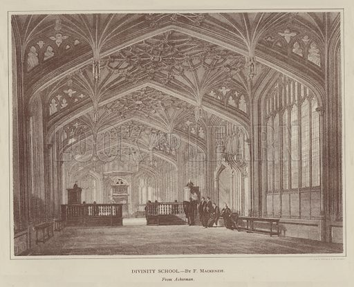 Divinity School. Illustration for Oxford Men and their Colleges by Joseph Foster (James Parker, 1893).