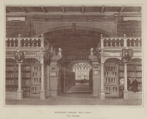 Bodleian Library. Illustration for Oxford Men and their Colleges by Joseph Foster (James Parker, 1893).